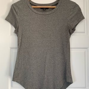 Cute Fitted Grey T-Shirt